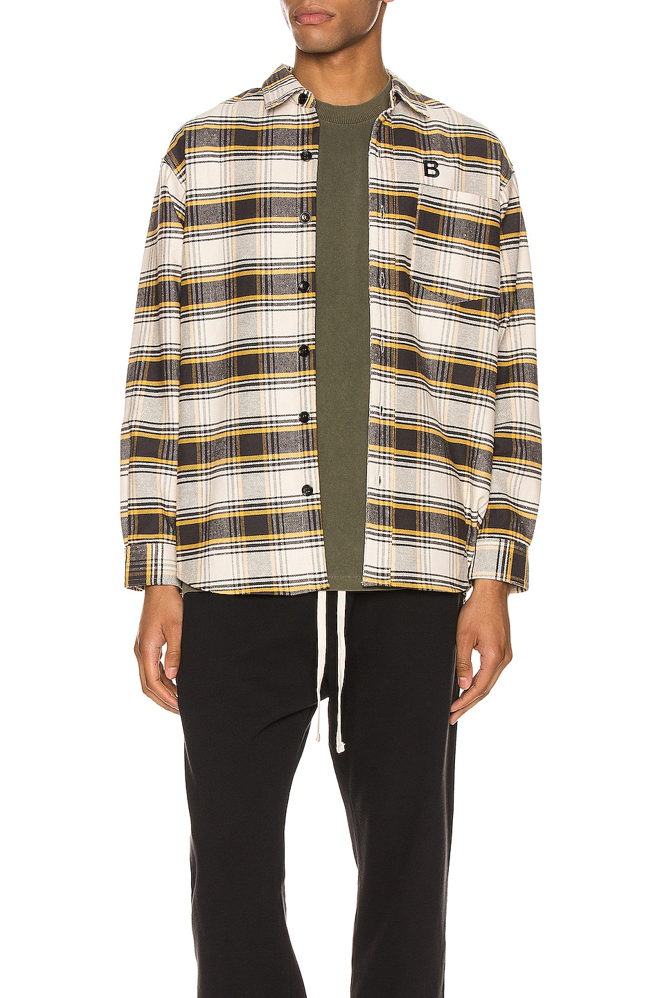 Image 1 of Billy Flannel Shirt in Black