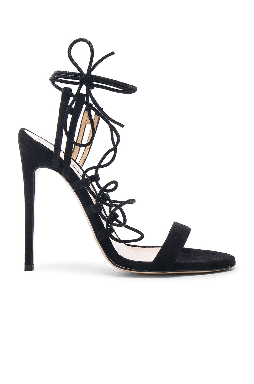 Image 1 of Bionda Castana Viola Suede Heels in Black