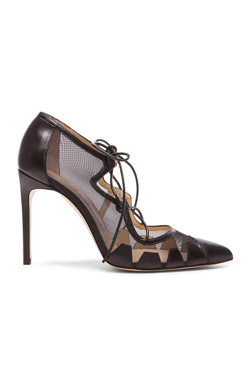 Image 1 of Bionda Castana Dekota Mesh & Leather Heels in Black
