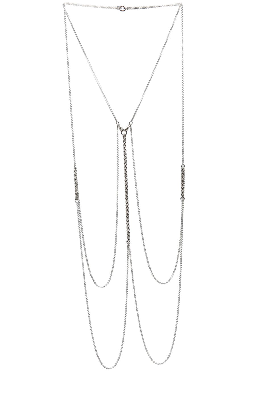 Image 1 of Bliss Lau Visceral Body Chain in Silver