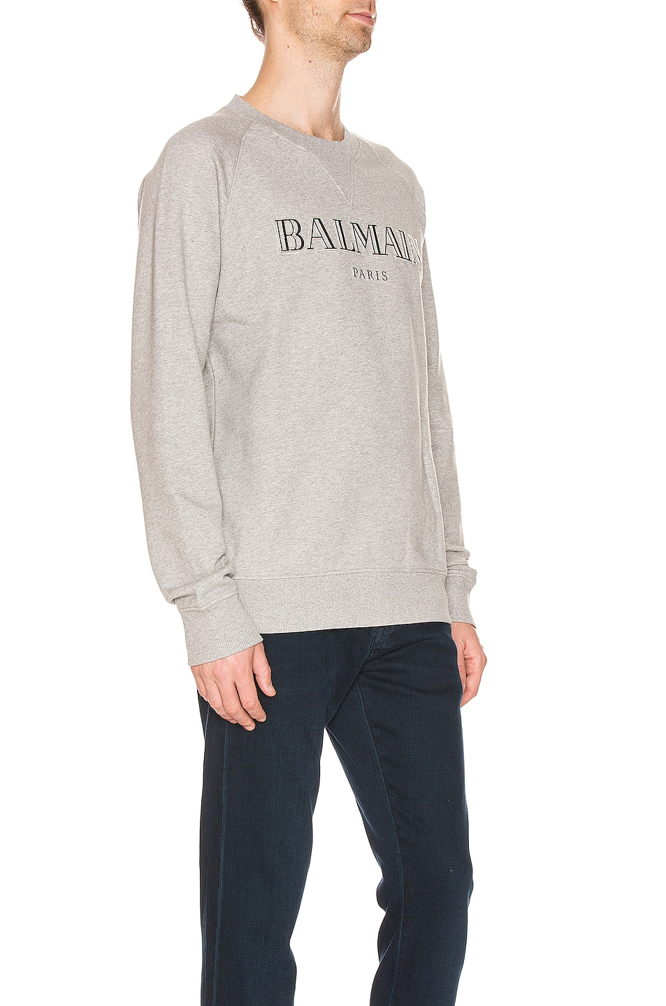 Image 2 of BALMAIN Logo Sweatshirt in Grey