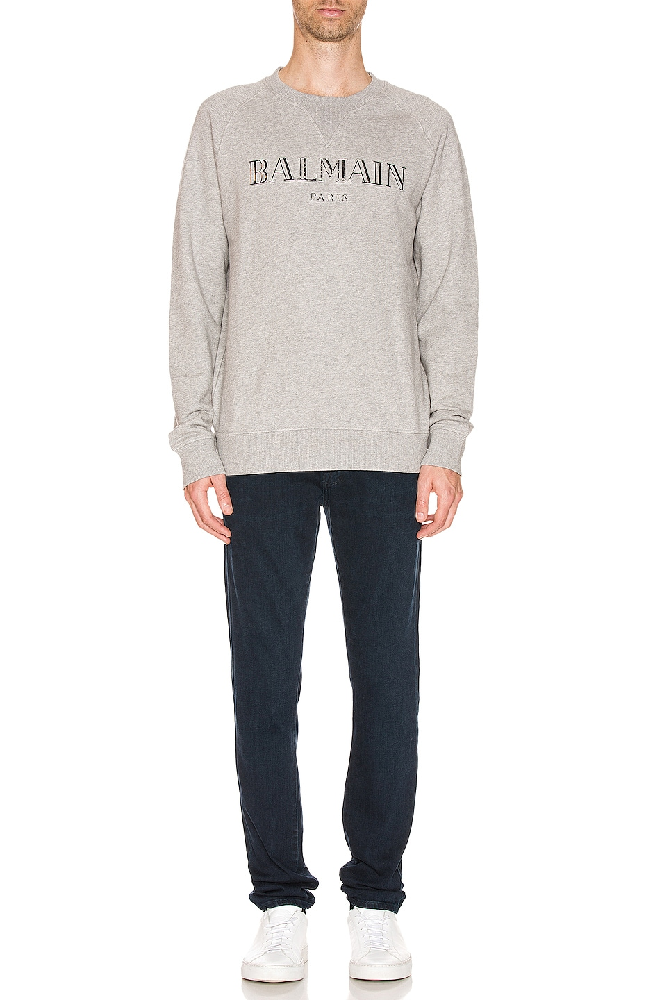 Image 4 of BALMAIN Logo Sweatshirt in Grey