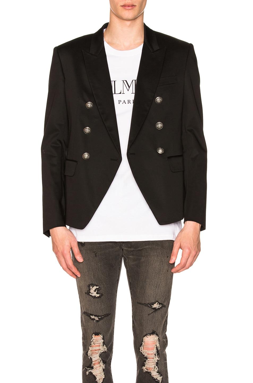 Image 1 of BALMAIN 6 Button Jacket in Black