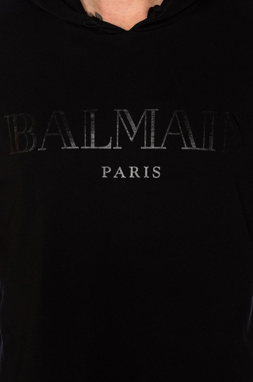 Image 5 of BALMAIN Logo Hoodie in Noir