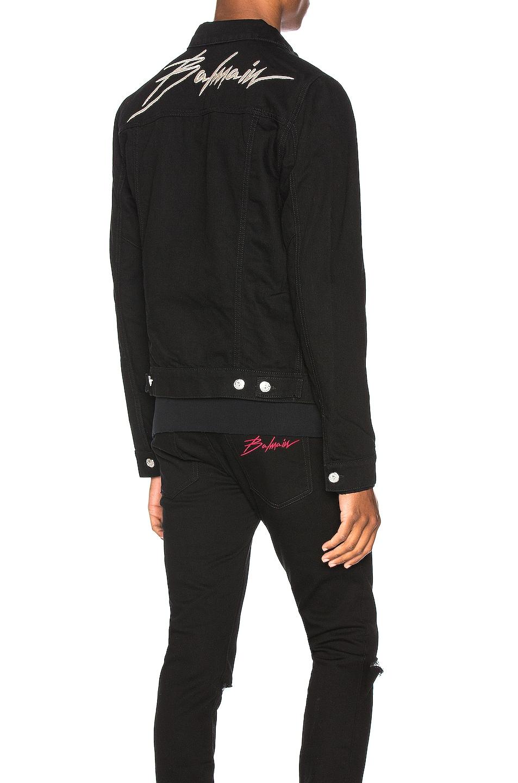 Image 1 of BALMAIN Embroidered Balmain Signature Denim Jacket in Noir