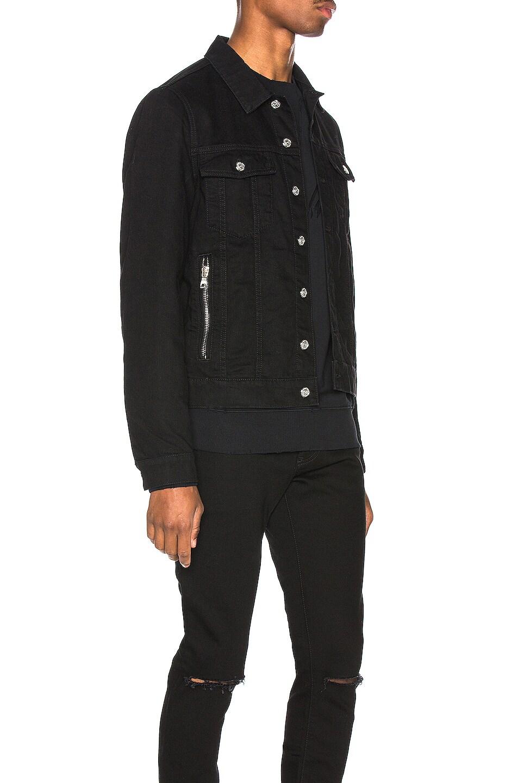 Image 3 of BALMAIN Embroidered Balmain Signature Denim Jacket in Noir