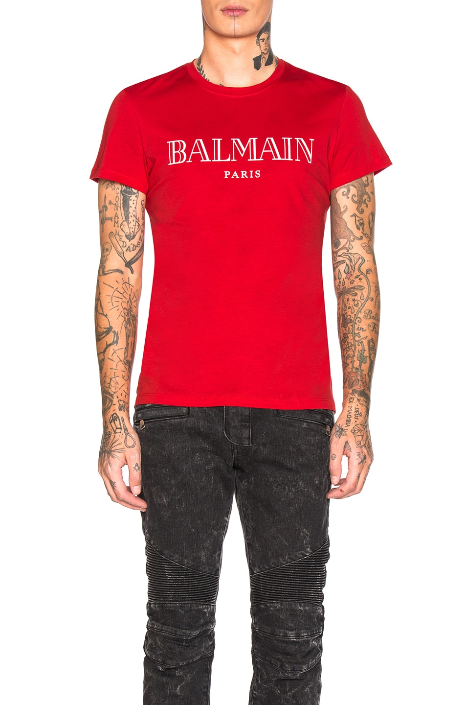 Image 1 of BALMAIN Balmain Paris T-Shirt in Rouge