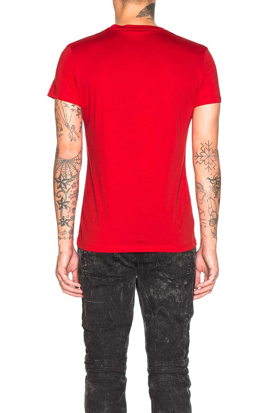 Image 3 of BALMAIN Balmain Paris T-Shirt in Rouge