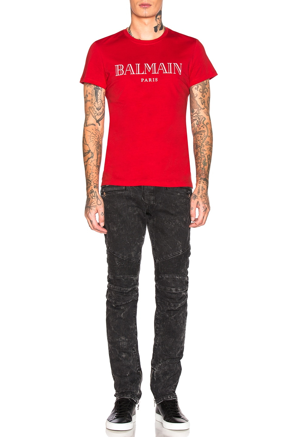 Image 4 of BALMAIN Balmain Paris T-Shirt in Rouge