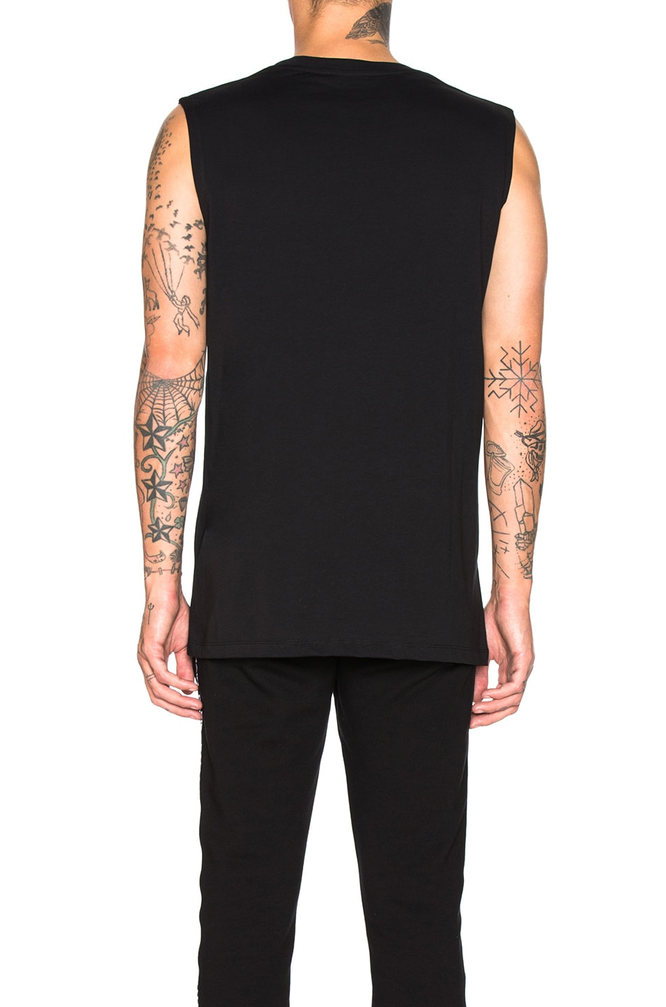 Image 3 of BALMAIN Balmain Paris Tank Top in Noir & Argent