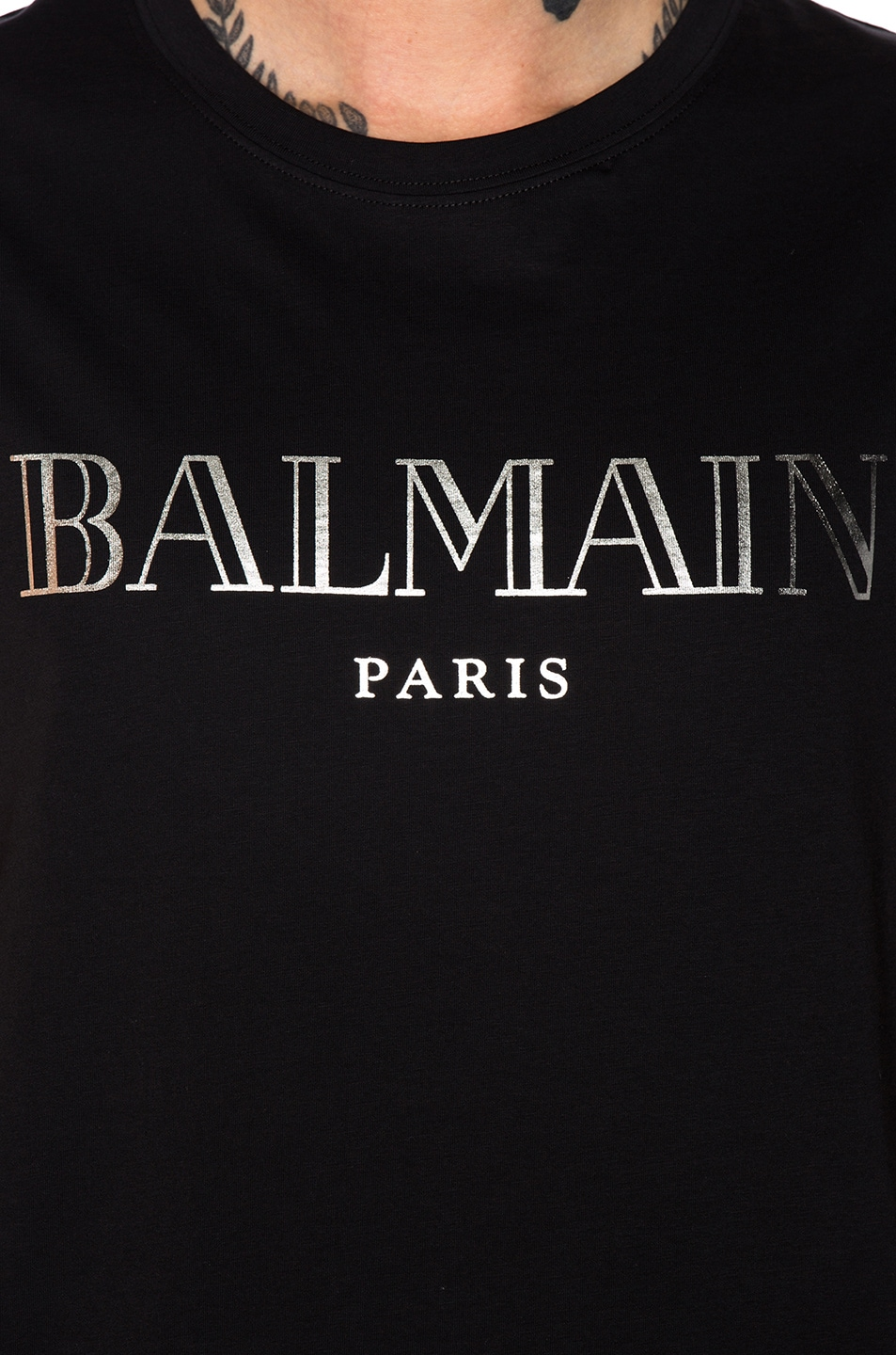 Image 5 of BALMAIN Balmain Paris Tank Top in Noir & Argent