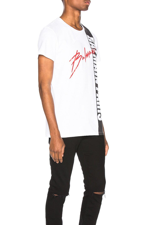 Image 2 of BALMAIN Printed T-Shirt in Blanc & Noir