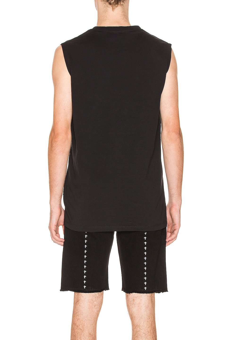 Image 3 of BALMAIN Oversized Logo Tank Top in Black