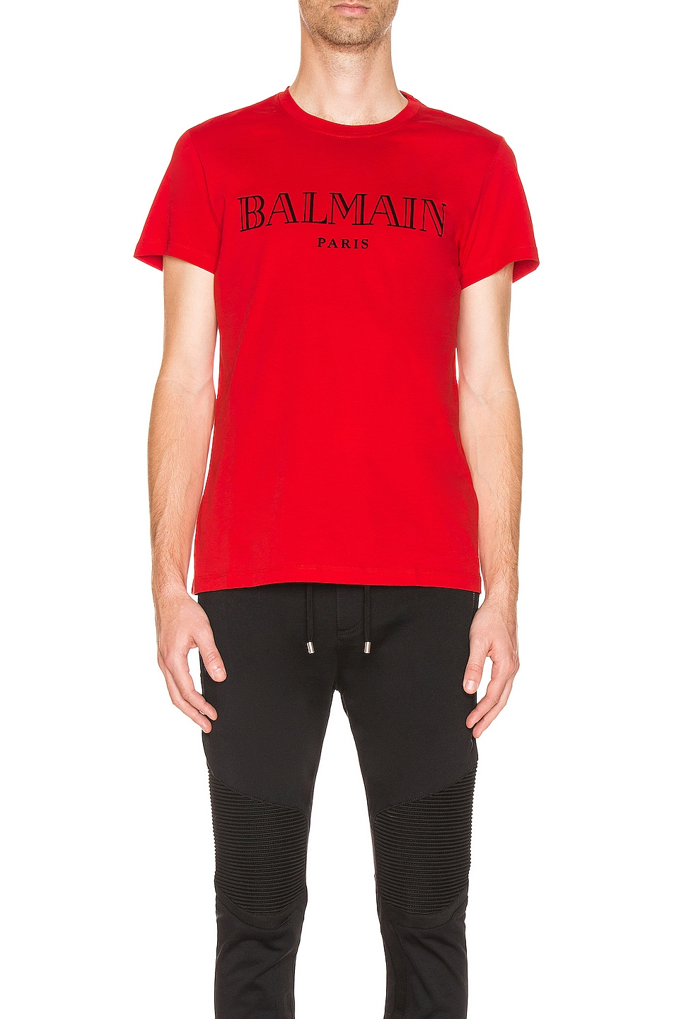 Image 1 of BALMAIN Logo Tee in Red