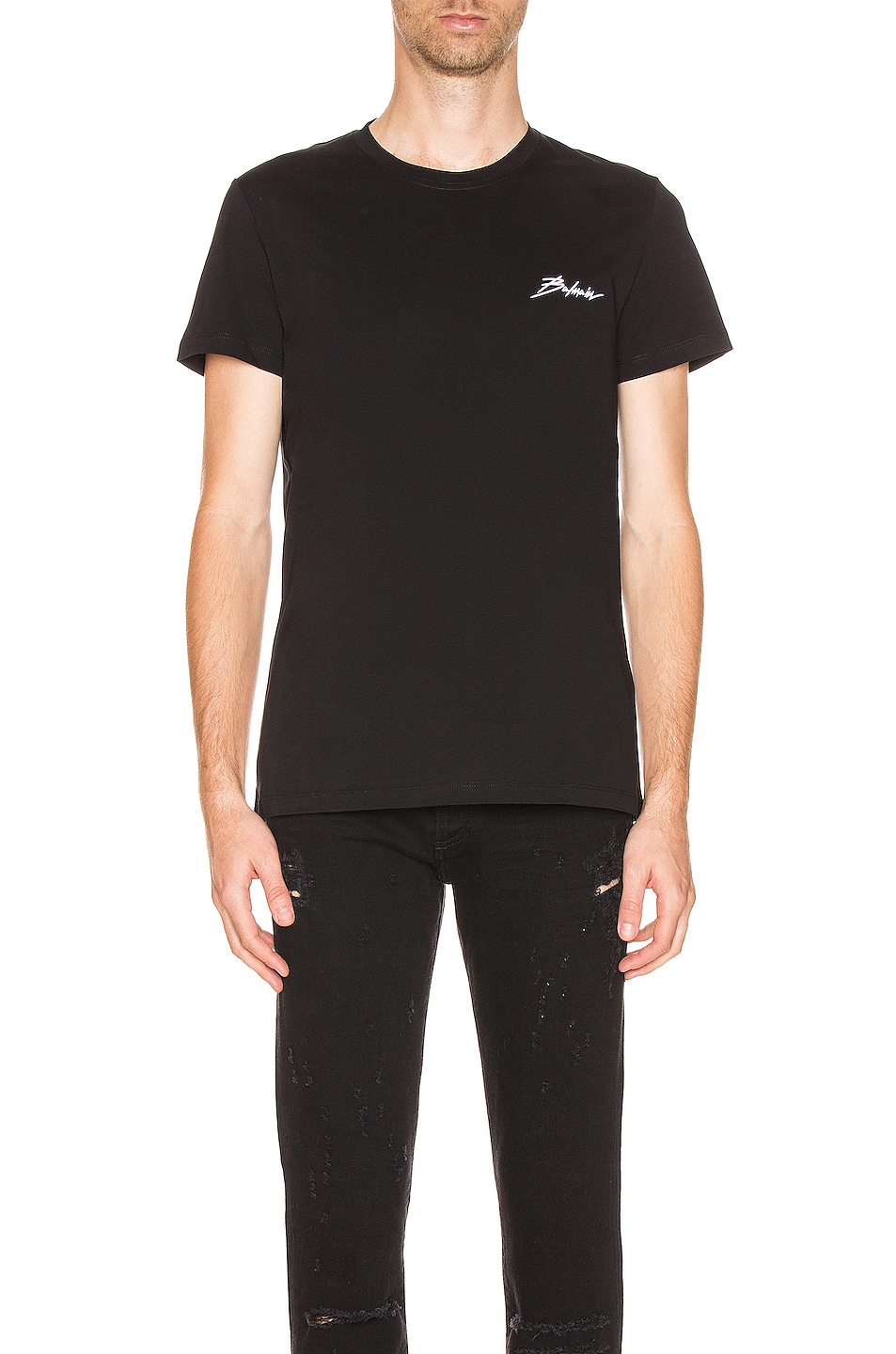 Image 1 of BALMAIN Signature Tee in Black