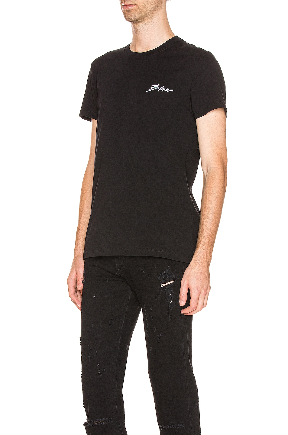 Image 3 of BALMAIN Signature Tee in Black