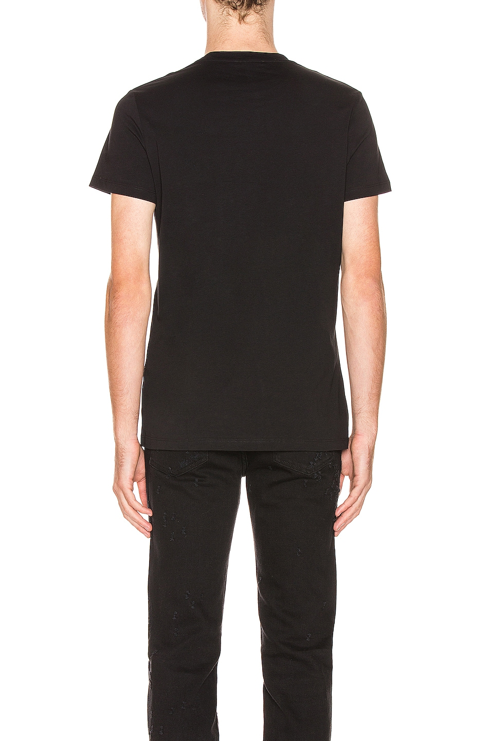 Image 4 of BALMAIN Signature Tee in Black