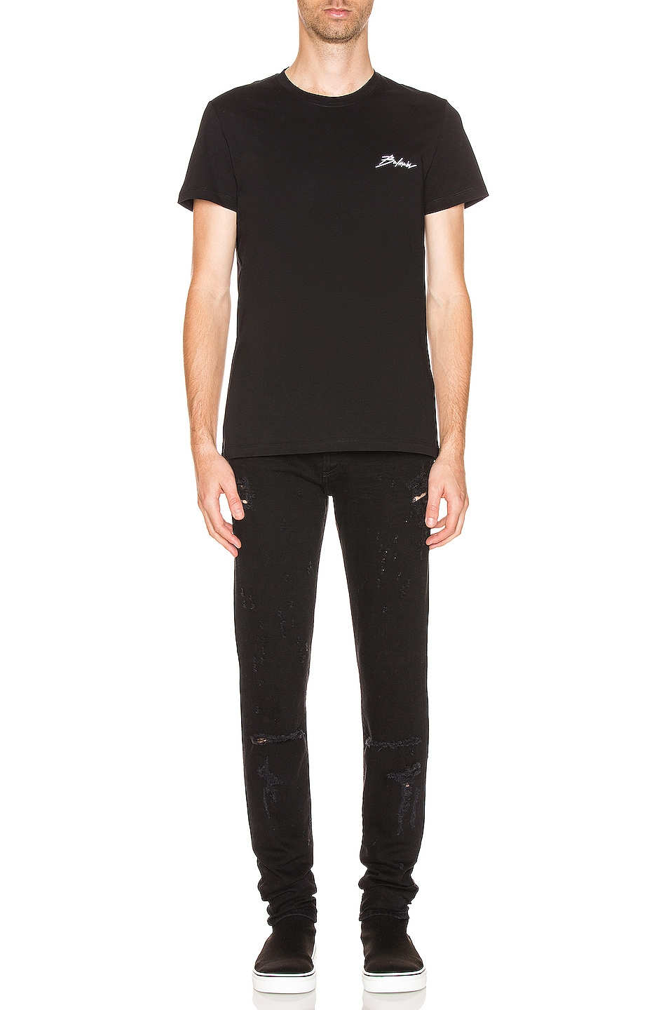 Image 5 of BALMAIN Signature Tee in Black