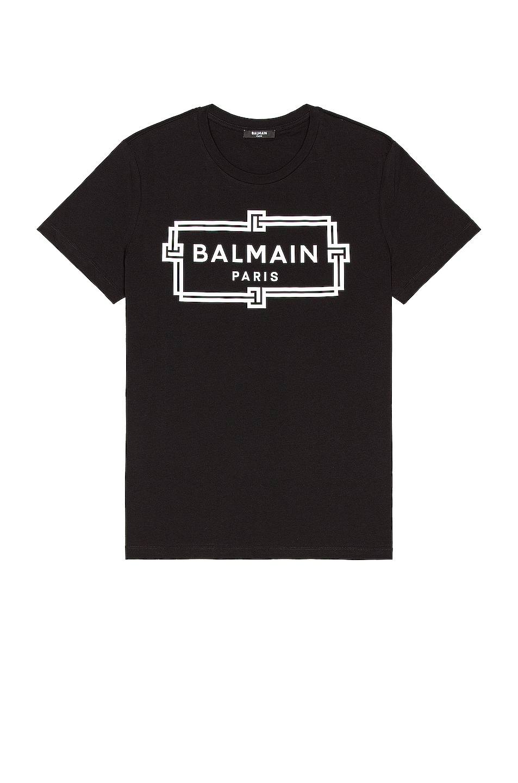 Image 1 of BALMAIN Printed Tee in Black