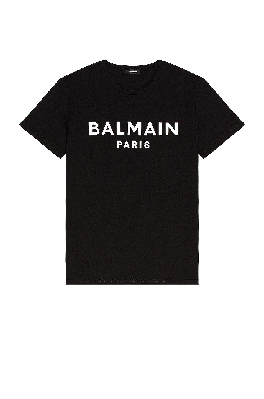 Image 1 of BALMAIN Printed T-Shirt in Black