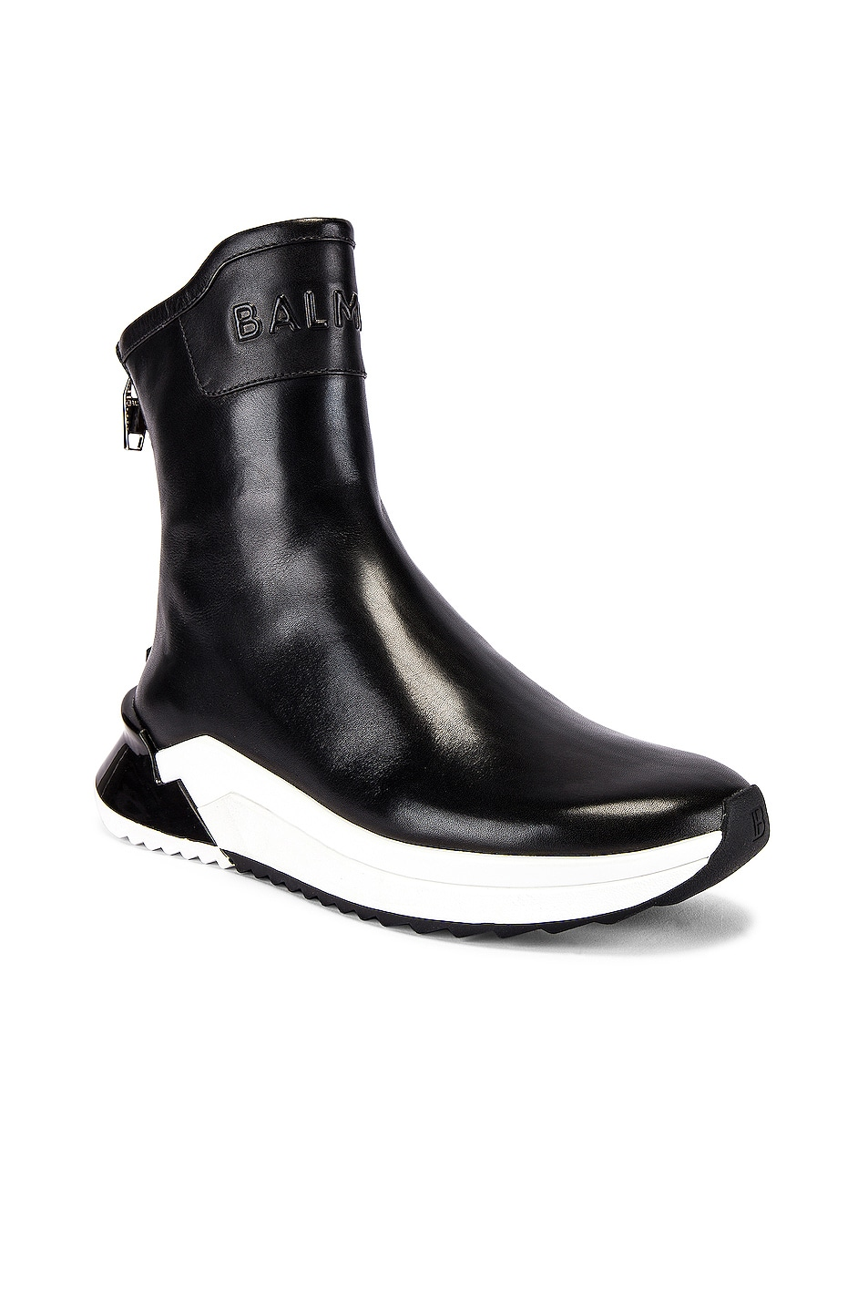 Image 1 of BALMAIN Glove Leather Sneaker in Noir