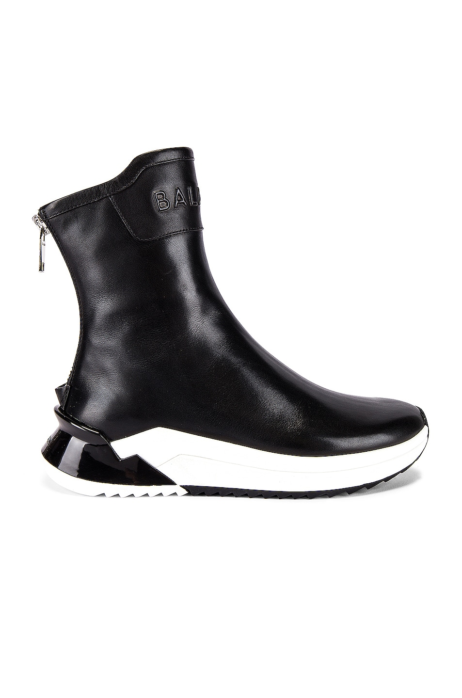 Image 2 of BALMAIN Glove Leather Sneaker in Noir