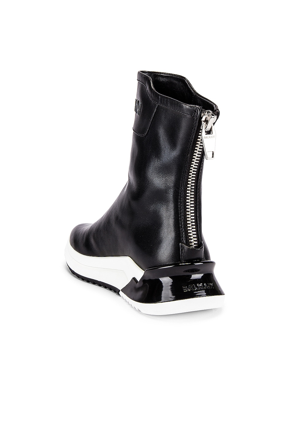 Image 3 of BALMAIN Glove Leather Sneaker in Noir