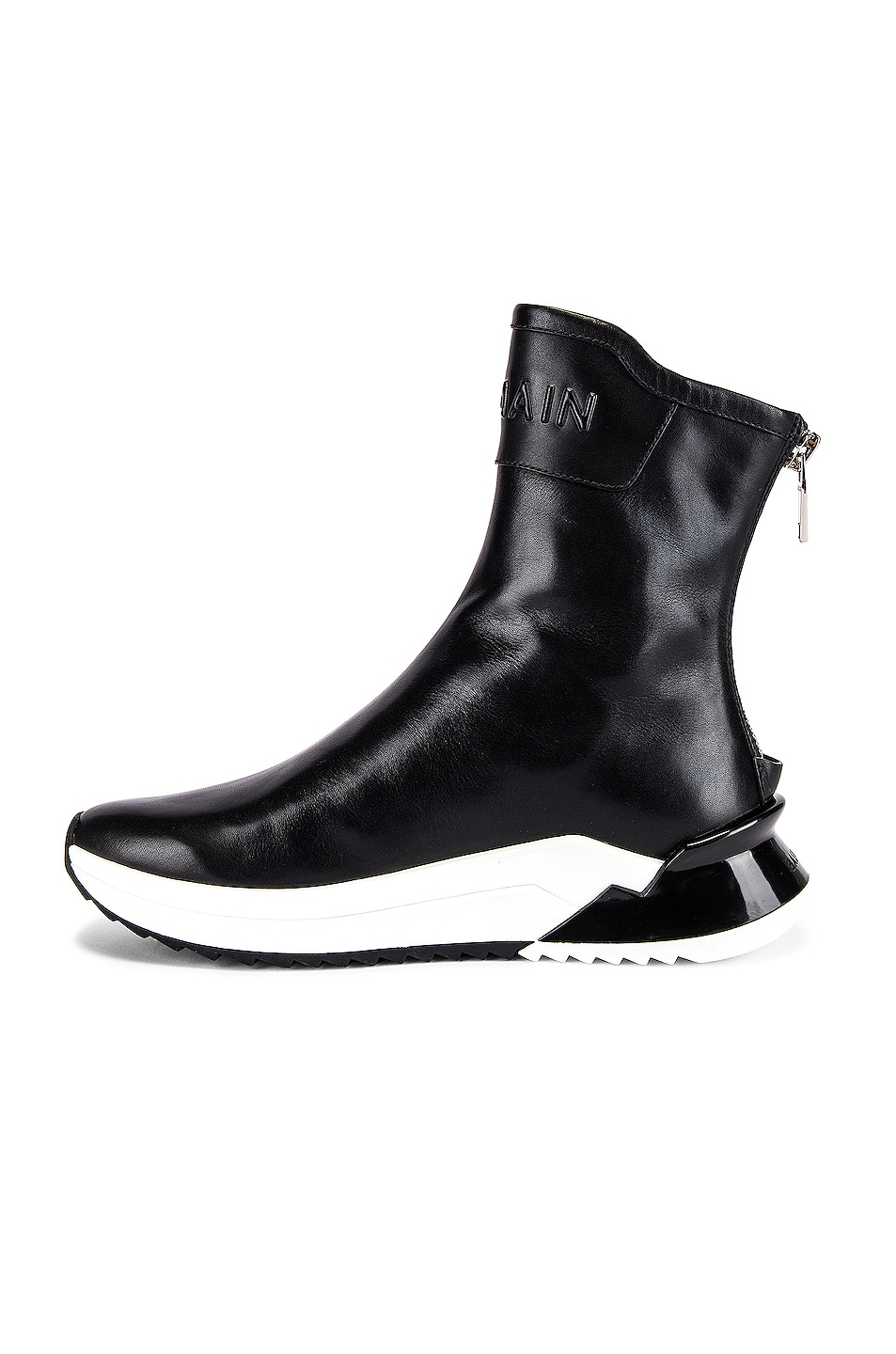 Image 5 of BALMAIN Glove Leather Sneaker in Noir