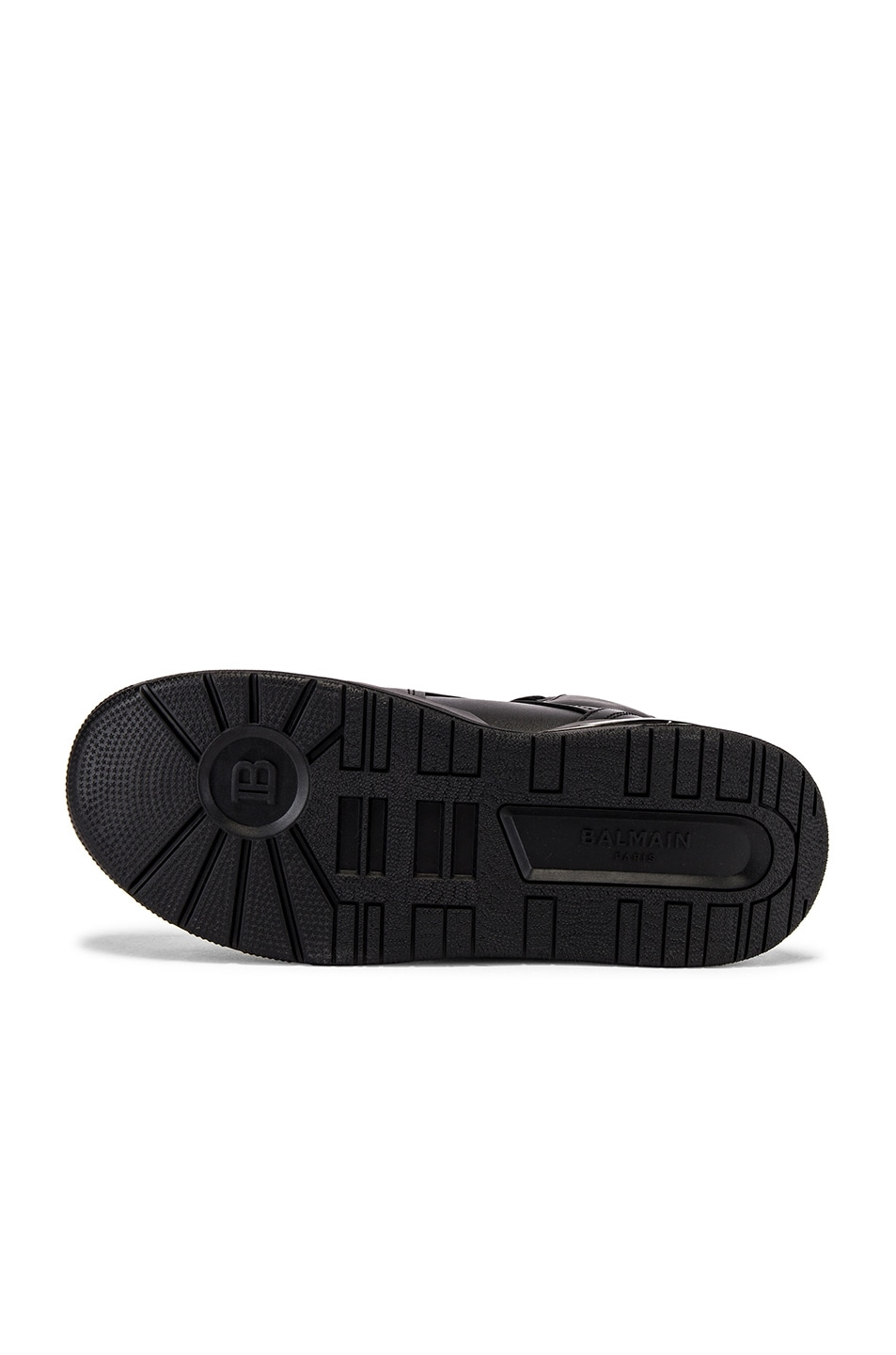 Image 6 of BALMAIN B-Ball Leather Sneaker in Noir & Noir