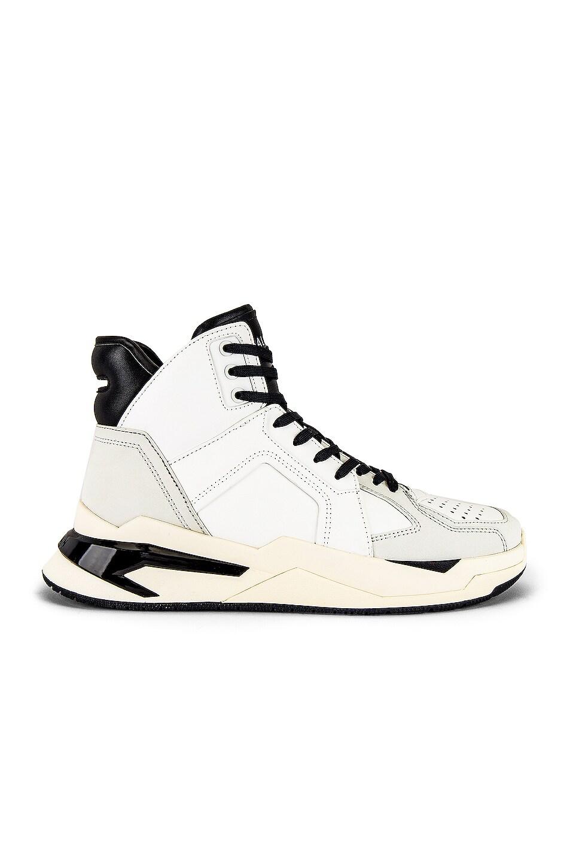 Image 2 of BALMAIN B-Ball Leather Sneaker in Black & Noir