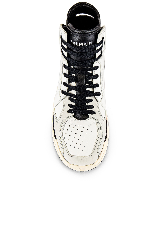 Image 4 of BALMAIN B-Ball Leather Sneaker in Black & Noir