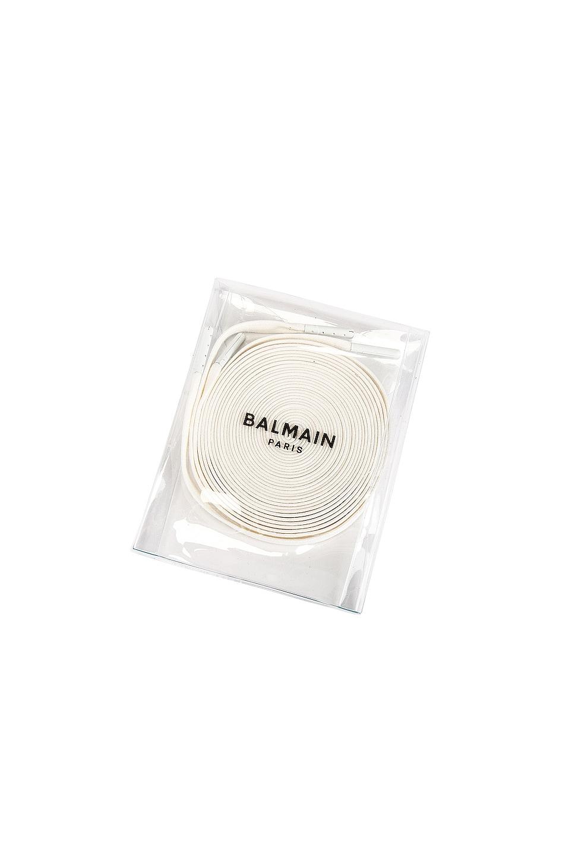 Image 8 of BALMAIN B-Ball Leather Sneaker in Rouge & Noir