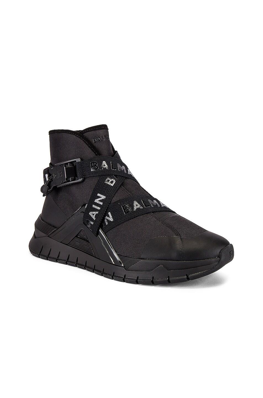 Image 1 of BALMAIN B Troop Strap Sneaker in Noir & Noir
