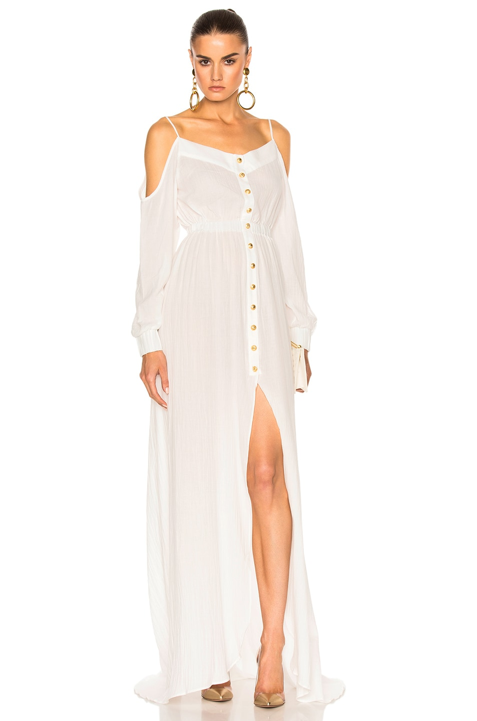 Image 1 of BALMAIN Maxi Dress in White