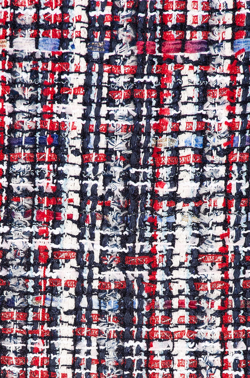 Image 4 of BALMAIN Tweed Button Dress in Red & White & Blue