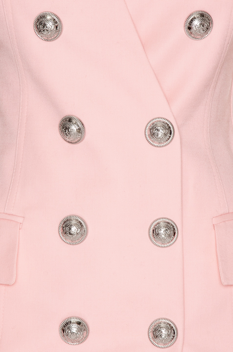 Image 5 of BALMAIN Sleeveless Button Mini Dress in Rose Pale