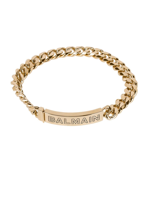 Image 1 of BALMAIN Logo Chain Choker in Gold