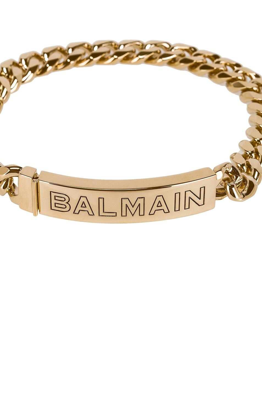 Image 3 of BALMAIN Logo Chain Choker in Gold
