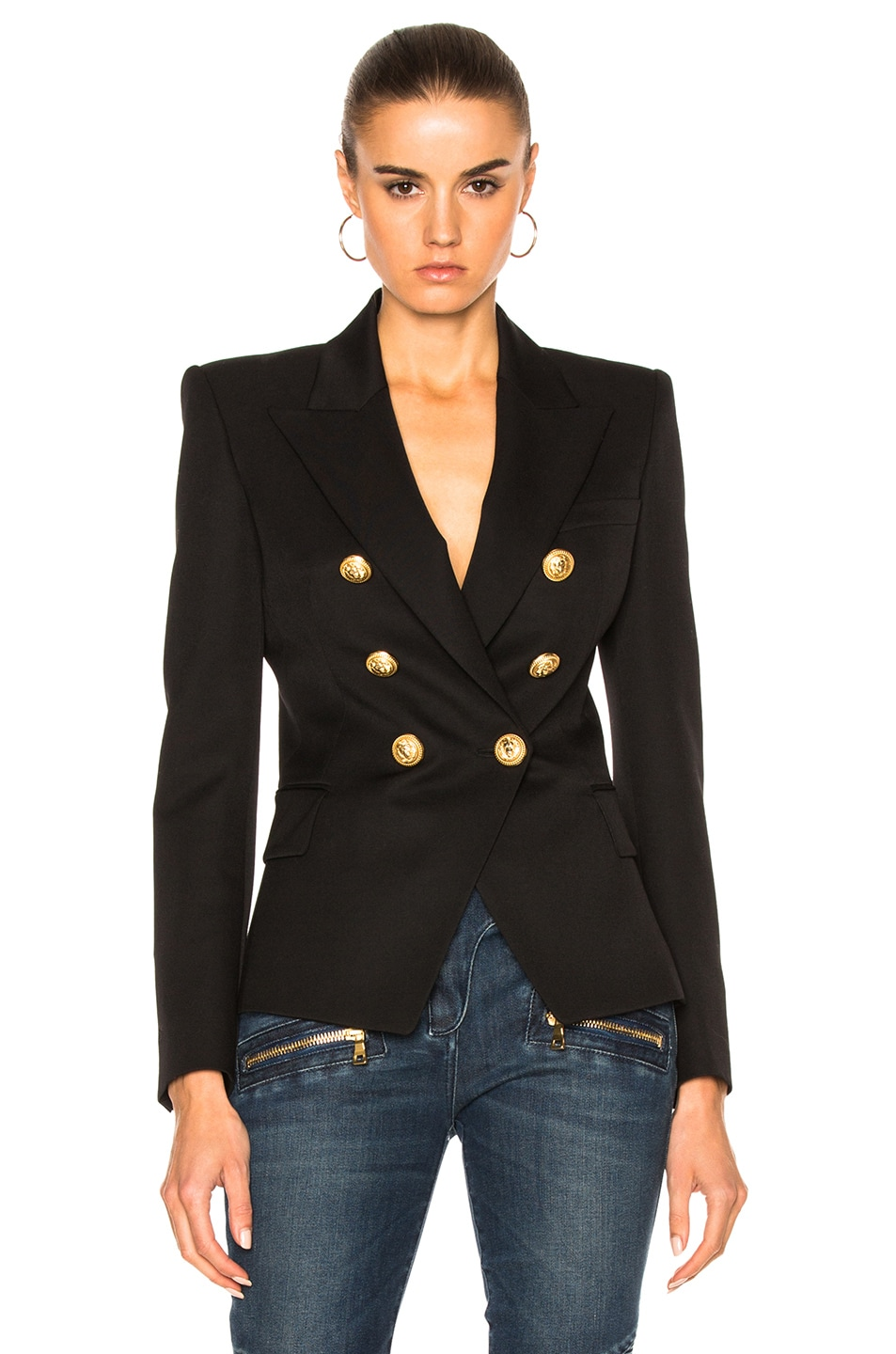 Image 1 of BALMAIN Double Breasted Blazer in Black