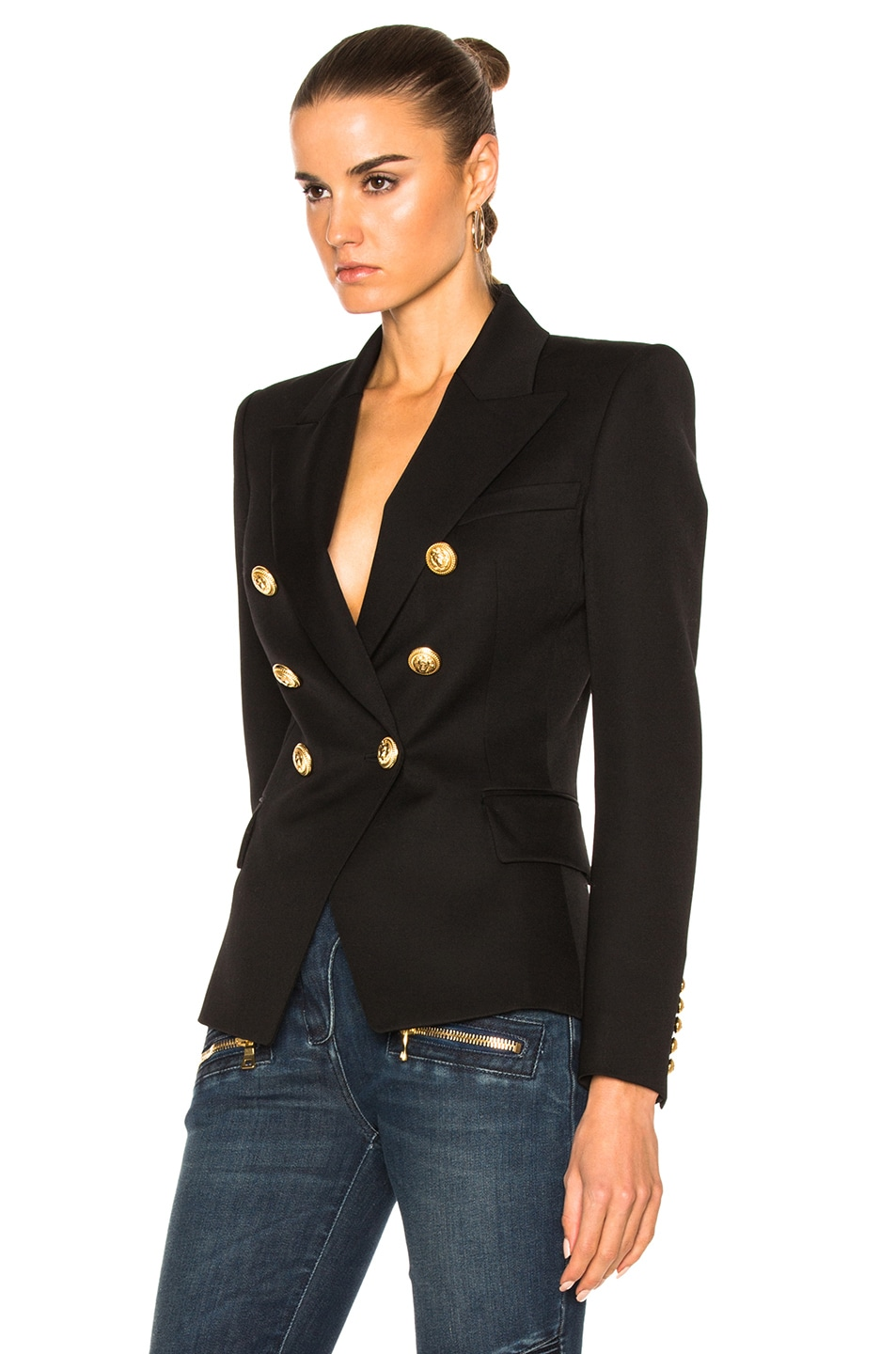 Image 2 of BALMAIN Double Breasted Blazer in Black