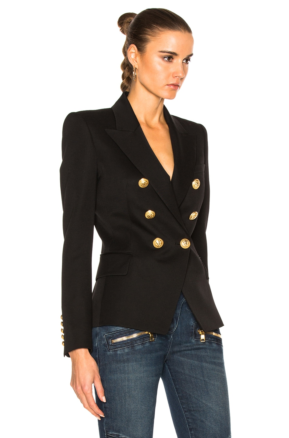 Image 3 of BALMAIN Double Breasted Blazer in Black