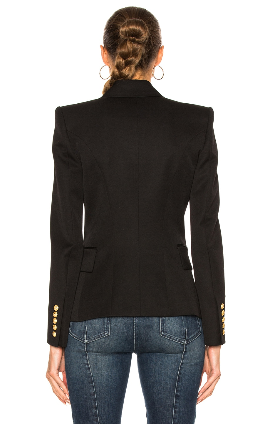 Image 4 of BALMAIN Double Breasted Blazer in Black