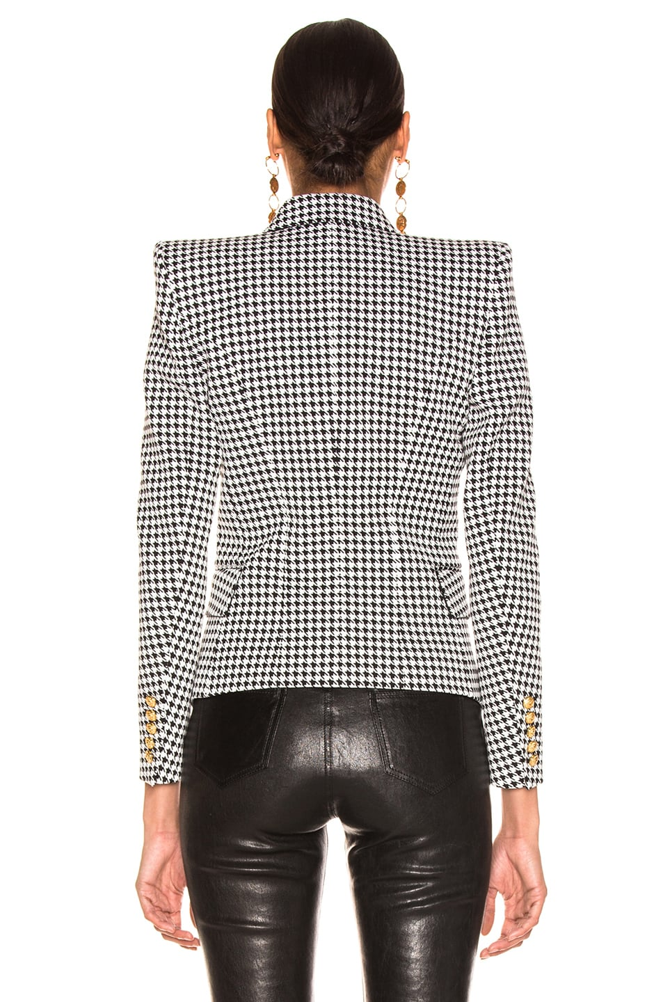 Image 4 of BALMAIN Houndstooth Jacket in Noir & Blanc