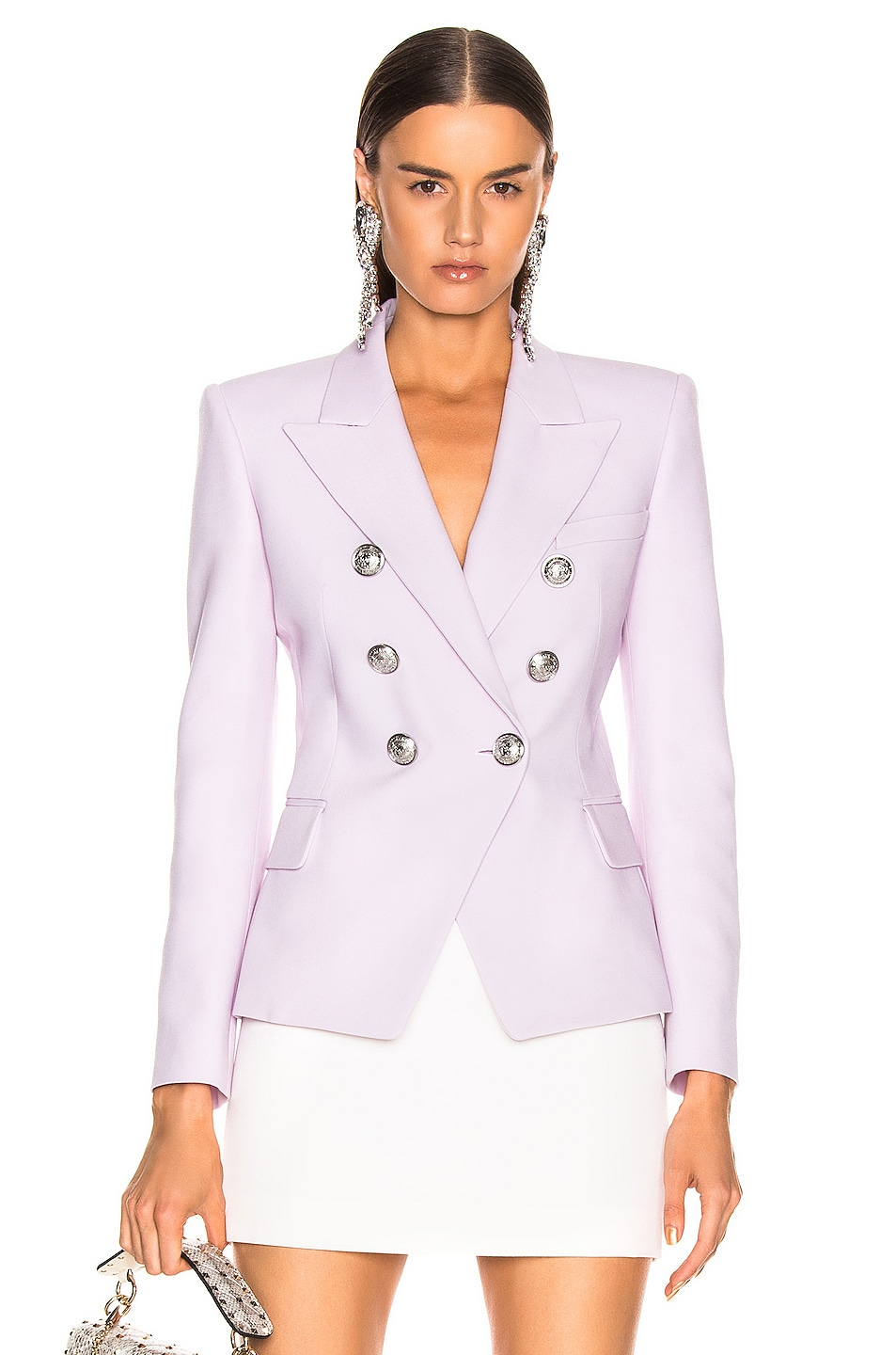 Image 1 of BALMAIN Double Breasted Jacket in Lilas