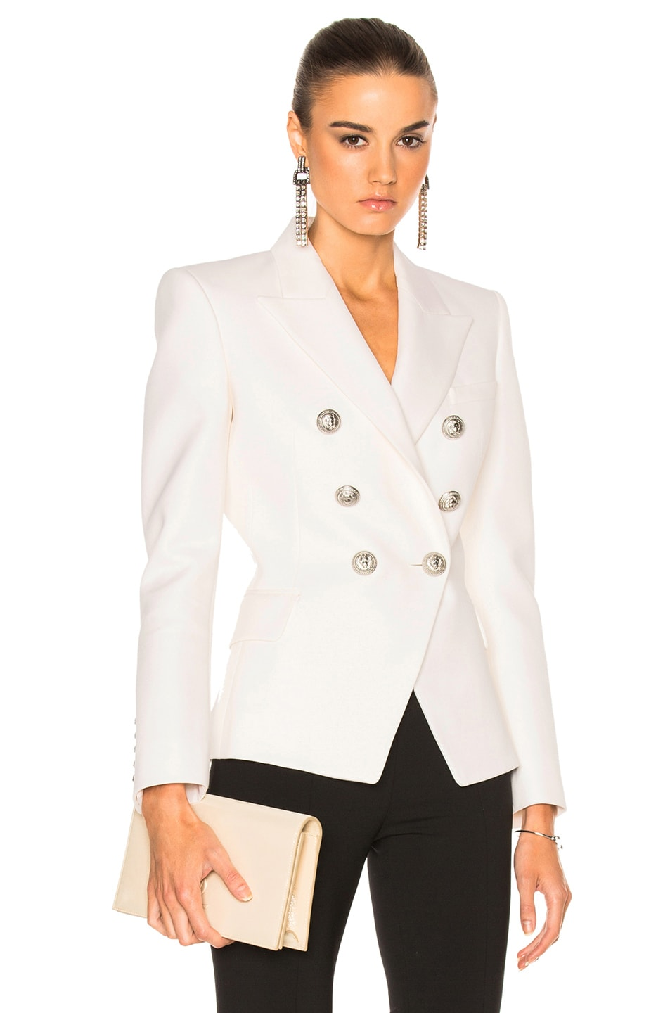 999a57d6 Image 1 of BALMAIN Double Breasted Blazer in White