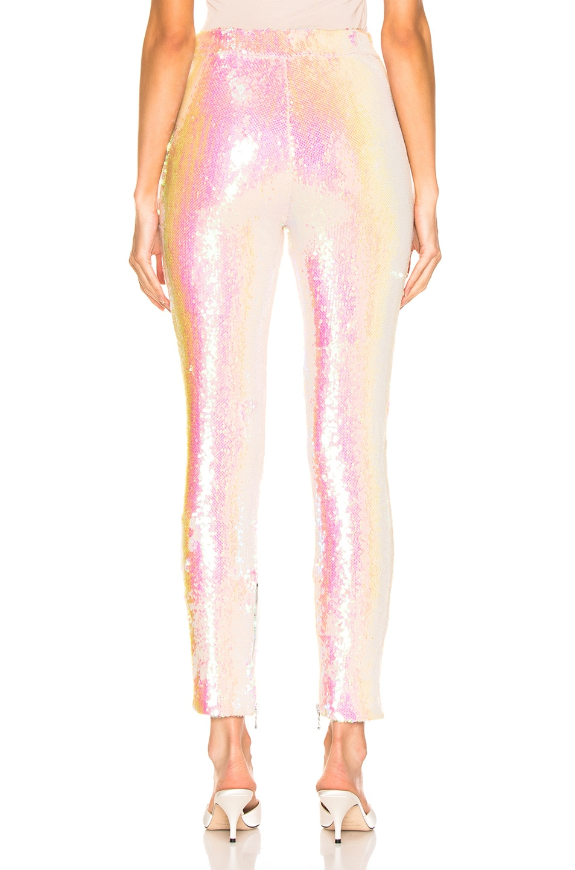 Image 4 of BALMAIN Sequin Leggings in Mother of Pearl