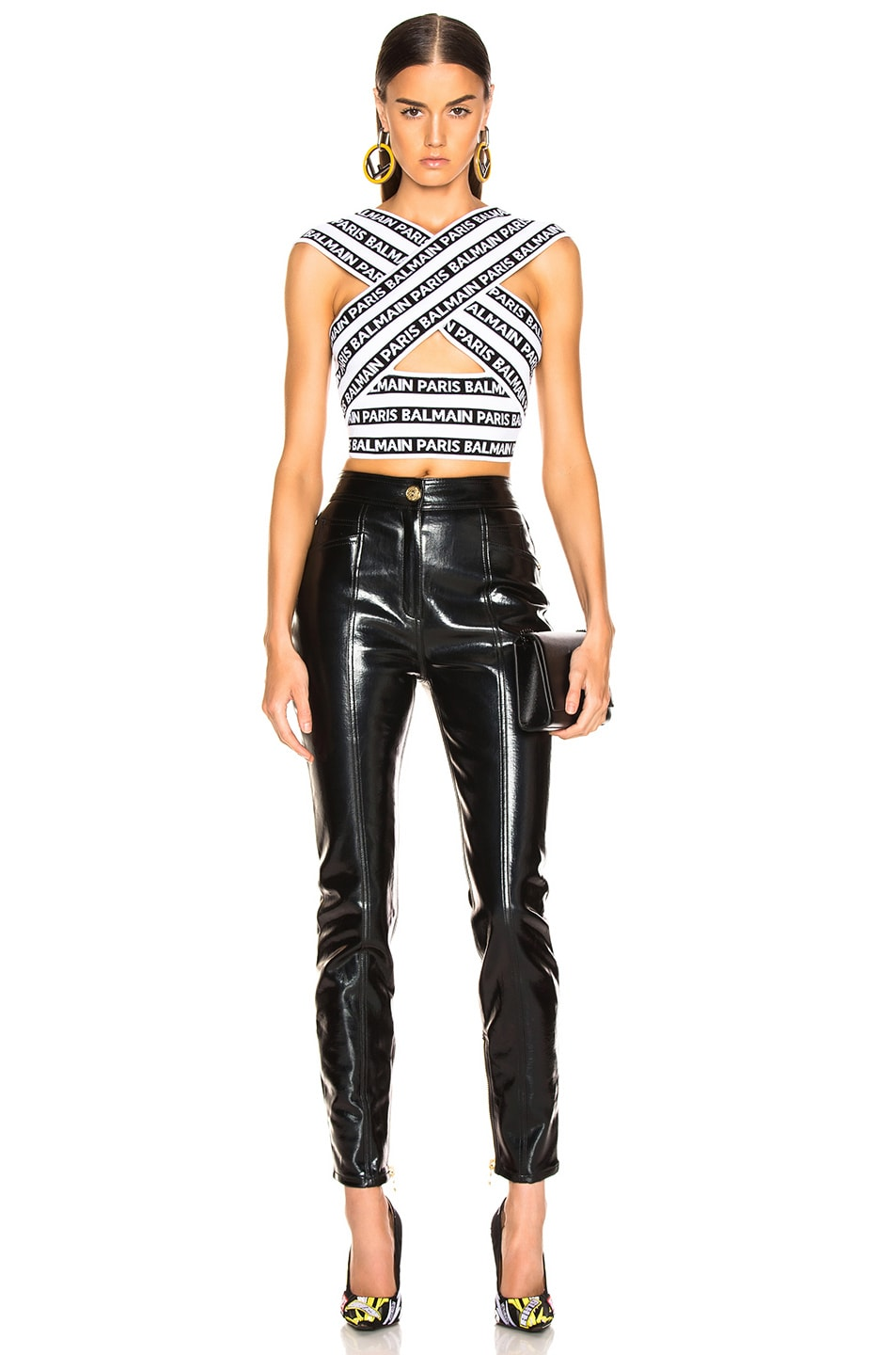 Image 4 of BALMAIN Patent Leather Pants in Black