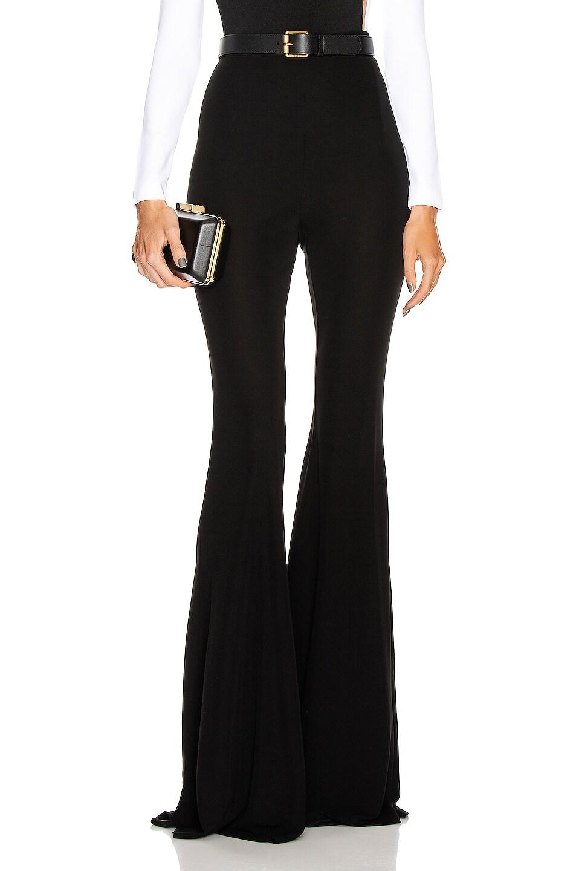 Image 1 of BALMAIN Jersey Flared Pant in Black