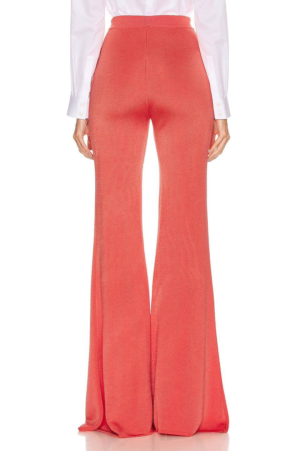 Image 3 of BALMAIN Button Embellished Flare Pant in Rose