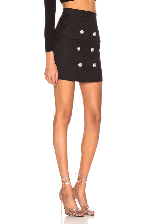 Image 2 of BALMAIN High Waist Skirt in Noir